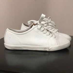 White Leather Sneakers by Frye
